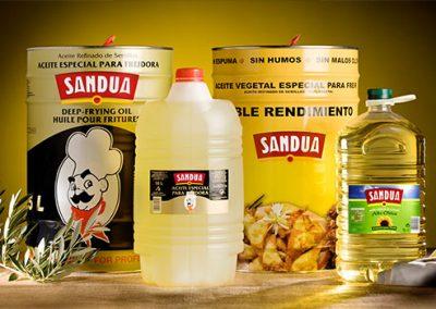 Aceite Sandua para freír, doble rendimiento y alto ácido oleico