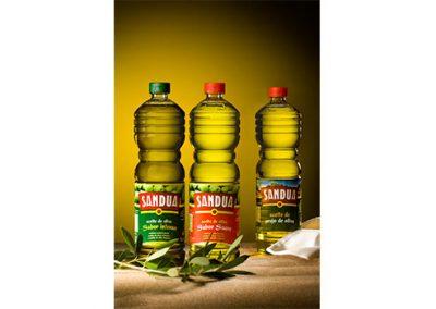 Aceite de oliva Sandua intenso, suave y orujo de aceite