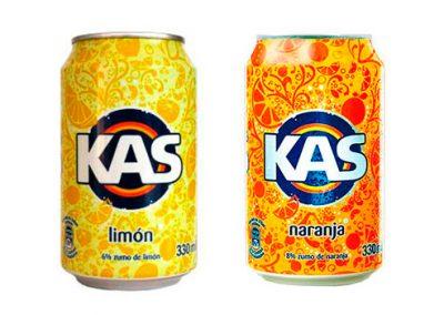 Kas naranja y limón en lata