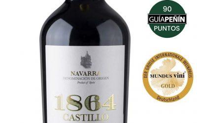 1864 Castillo de Olite Blanco Barrica Chardonnay Ganador Medalla Mundus Vini GOLD